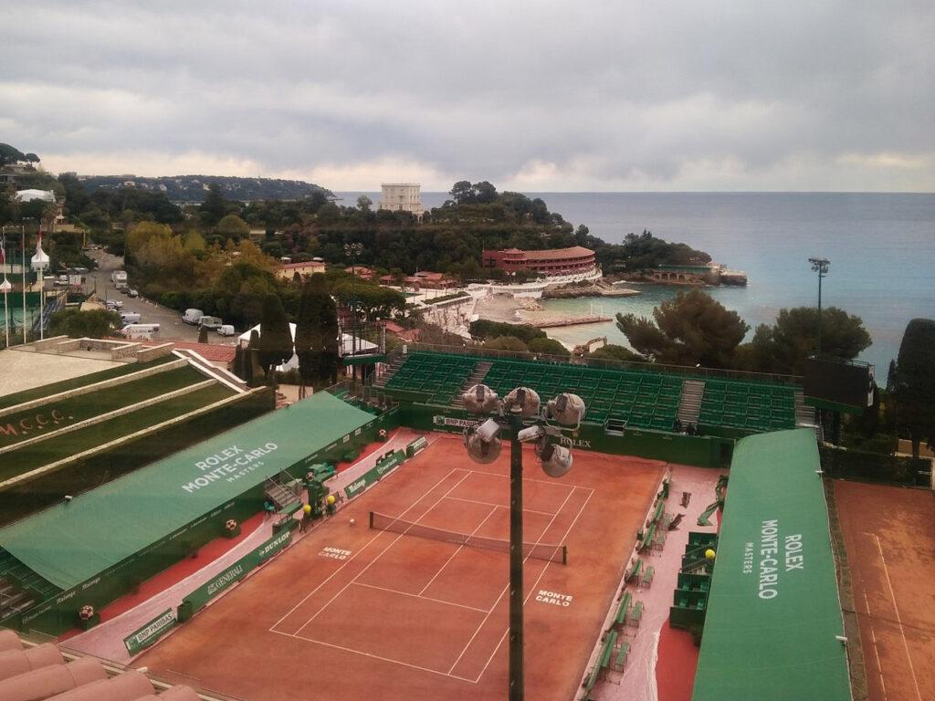 Vue sur le court Rolex Monte Carlo Masters